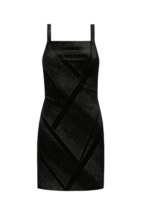 Schwarzes Glitzer-Kleid