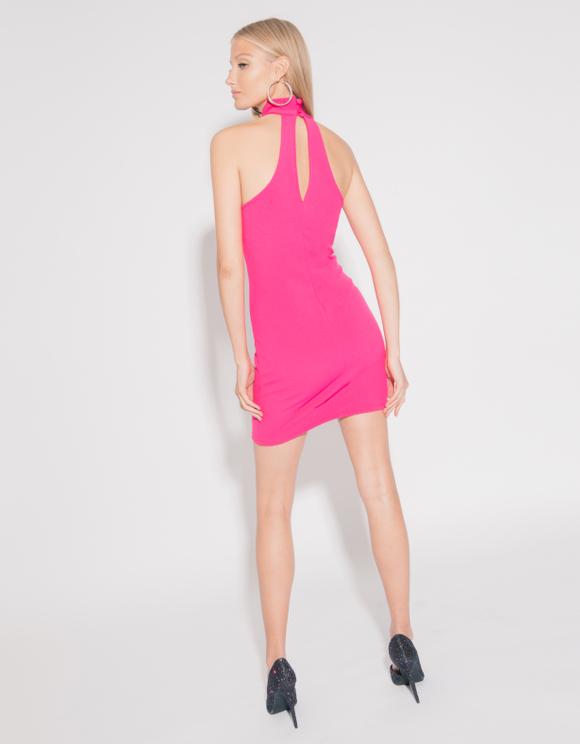 Neon Pink Sleeveless Dress
