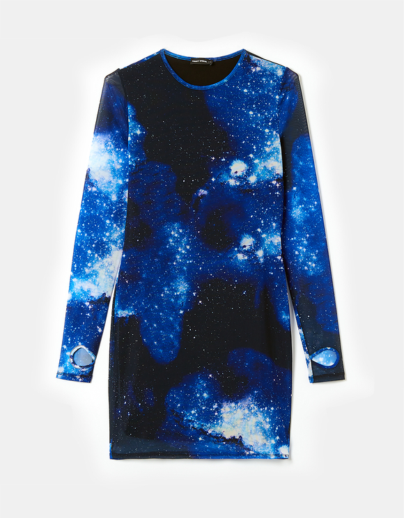 Galaxy Print Bodycon Dress