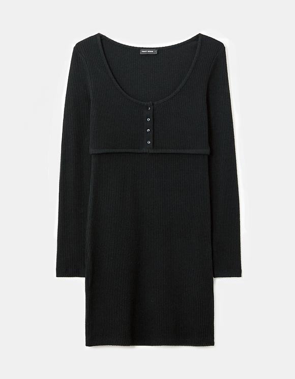 Scoop Neck Bodycon Mini Dress