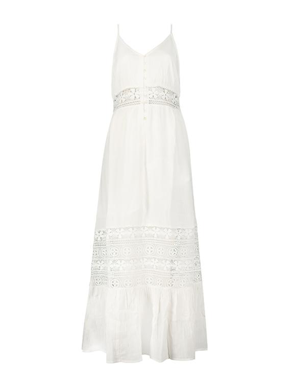 Langes Kleid aus Spitze