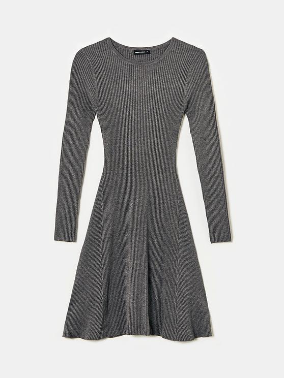 Robe en Maille Gris