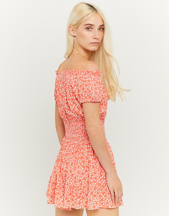 Smocked Waist Mini Dress