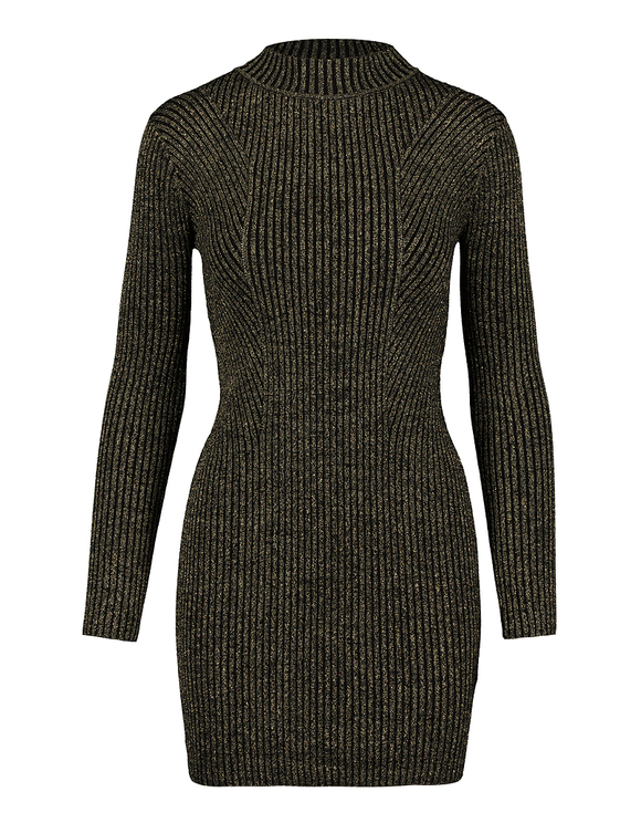 Black & Gold Knitted Dress