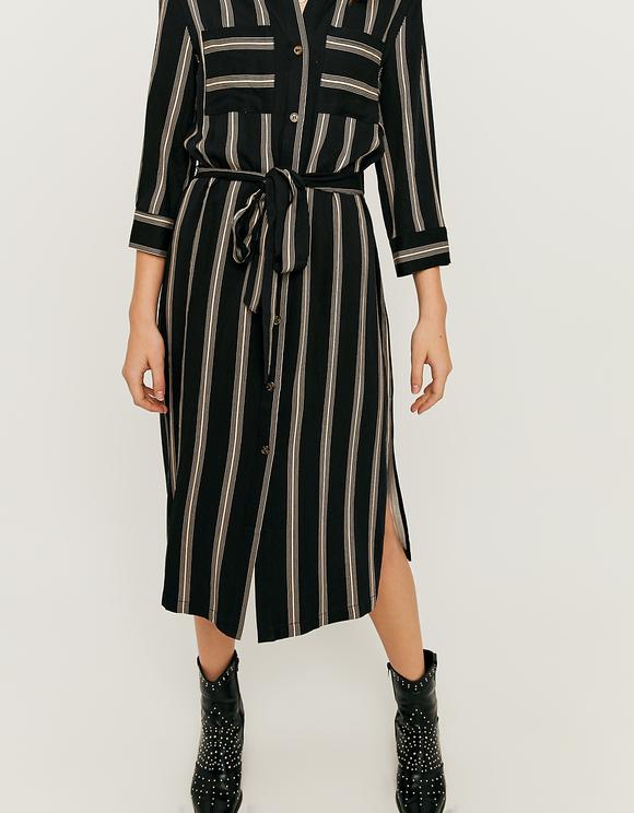 Belted Midi Shirt Dress