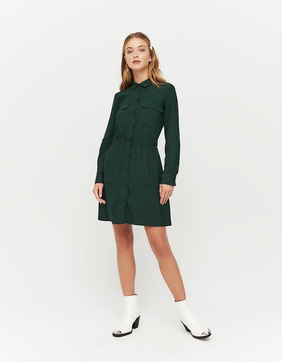 Green Cargo Dress