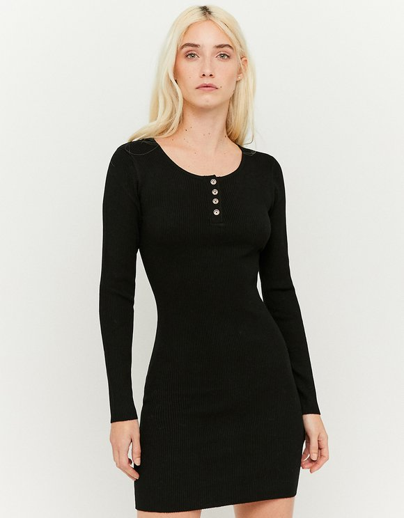 Scoop Neck Knit Dress
