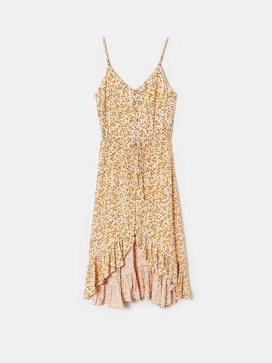 Asymetryczna sukienka Maxi w kwiaty