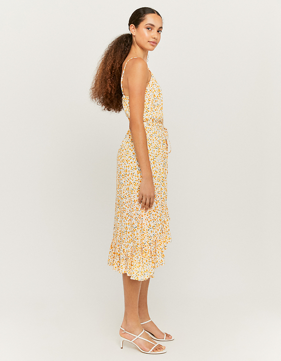 Maxi Asymmetrical Floral Dress