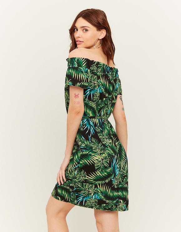Vestito con Stampa Tropicale