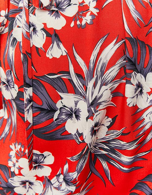 Robe Épaules Nues Imprimé Fleuri
