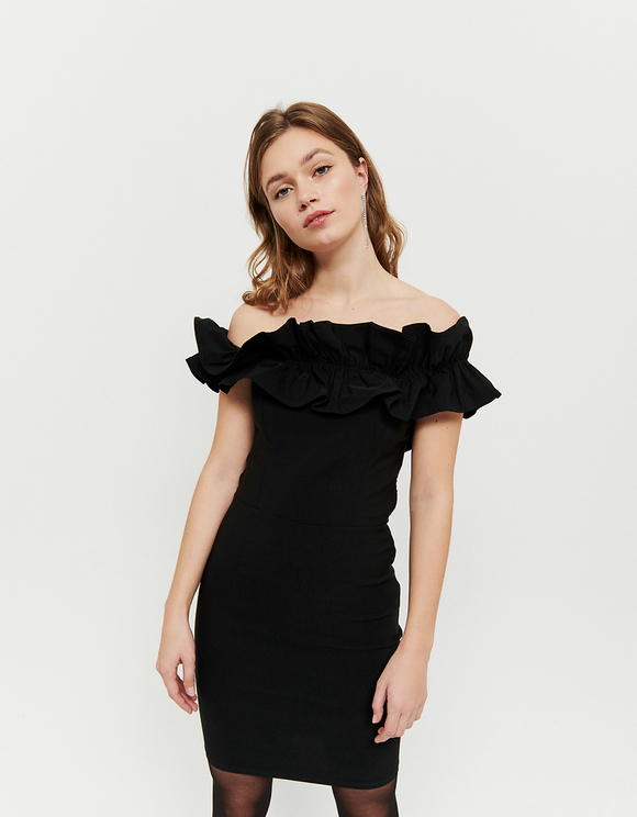 Black Dress with Ruffles