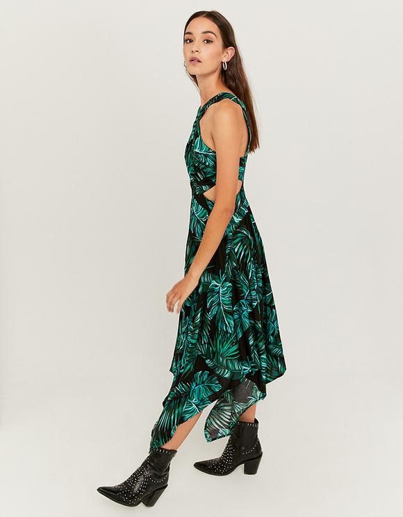 Robe Drapee A Imprime Tropical Tally Weijl Online Shop