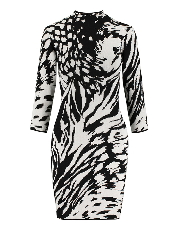 Animalier Dress in Fine Knit
