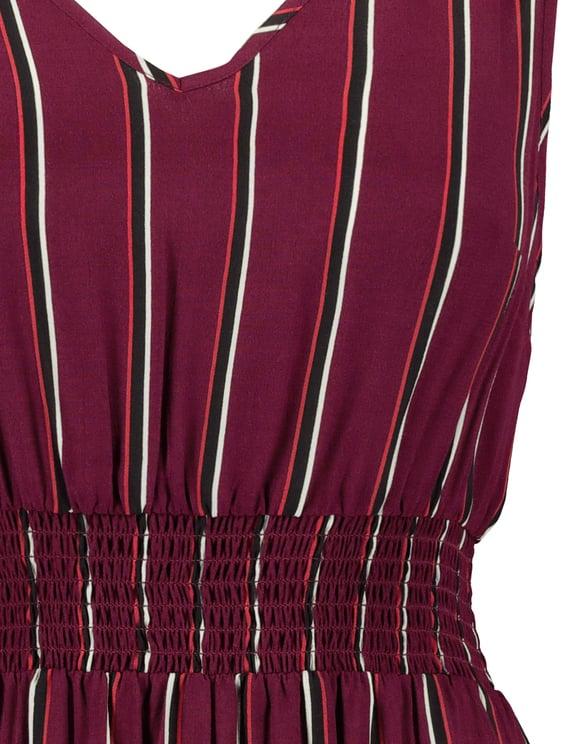 Burgundy Striped Dress