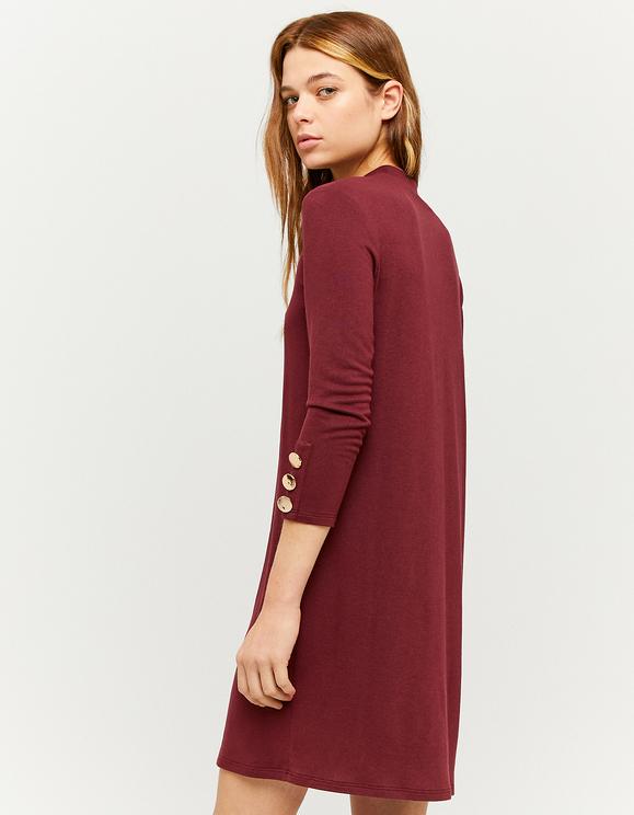 Burgundy Mini Dress