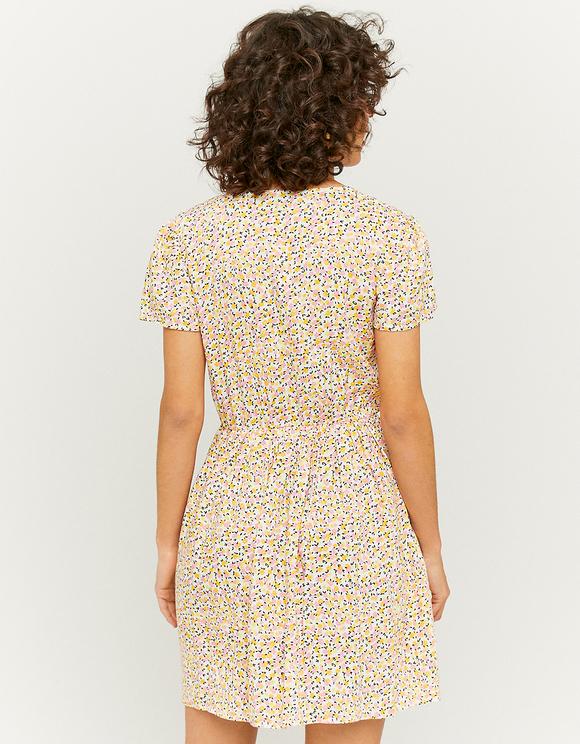 Zip Front Floral Print Mini Dress