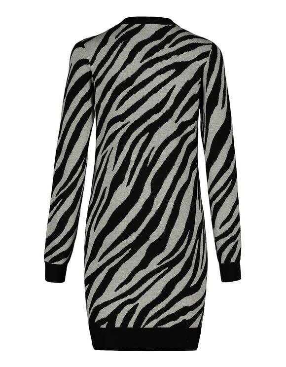 Zebra Print Knit Dress