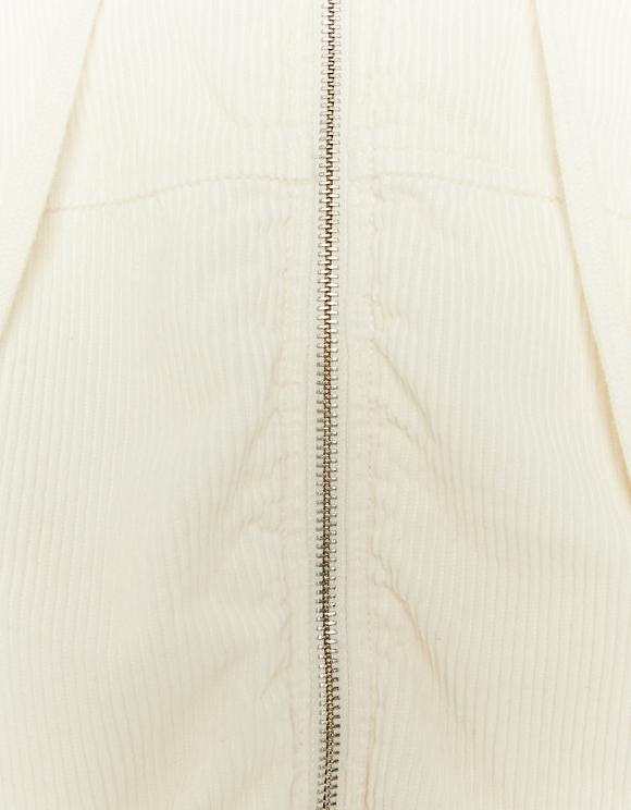 White Corduroy Bomber Jacket