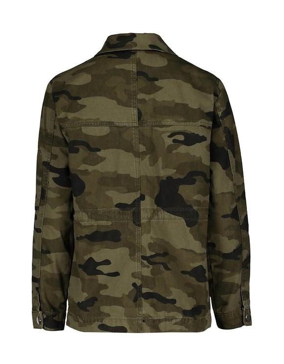 Camo Print Utility Jacket