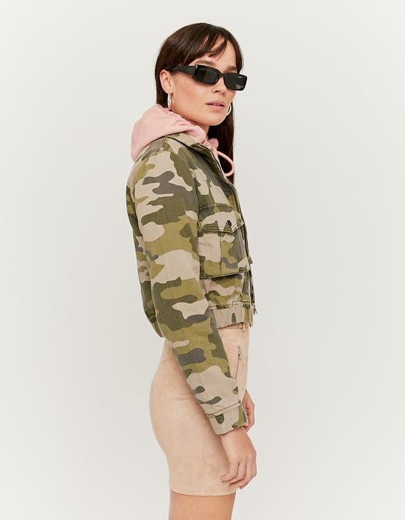 Camouflage kurze Jacke