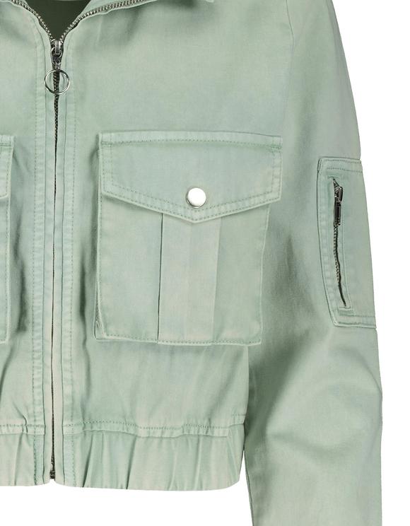 Hellgrüne kurze Utility Jacke