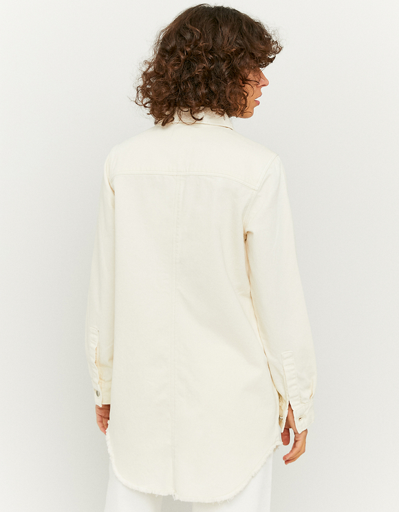 Biała jeansowa koszula