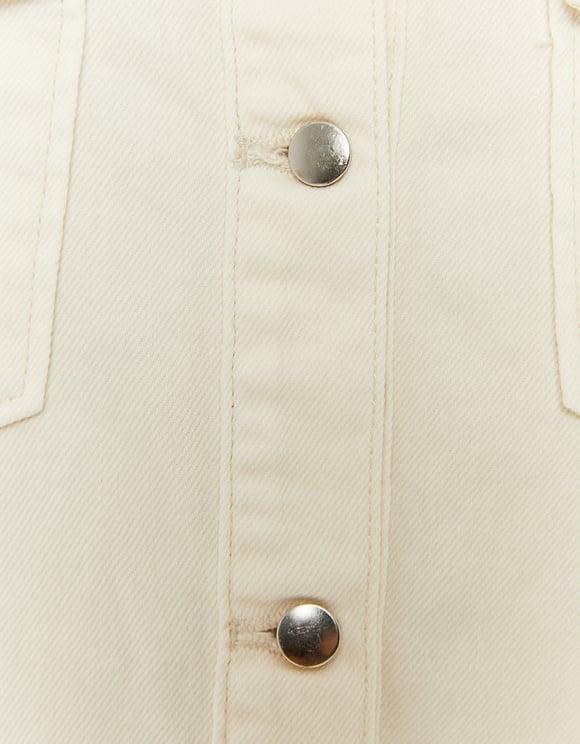 Weißes Denim Hemd