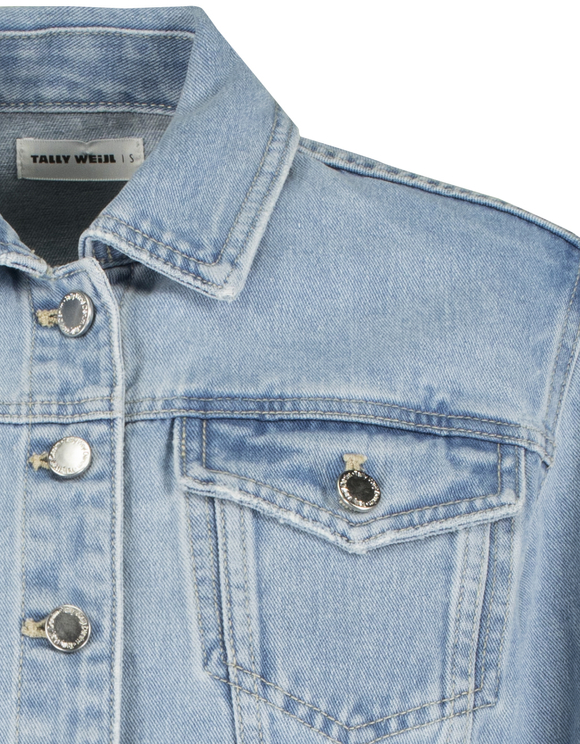 Cropped Loose Denim Jacket