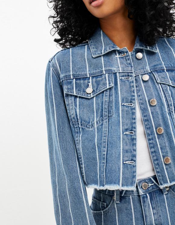 Denim Striped Jacket