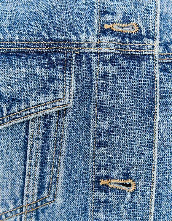 Denim Long Sleeve Oversize Jacket