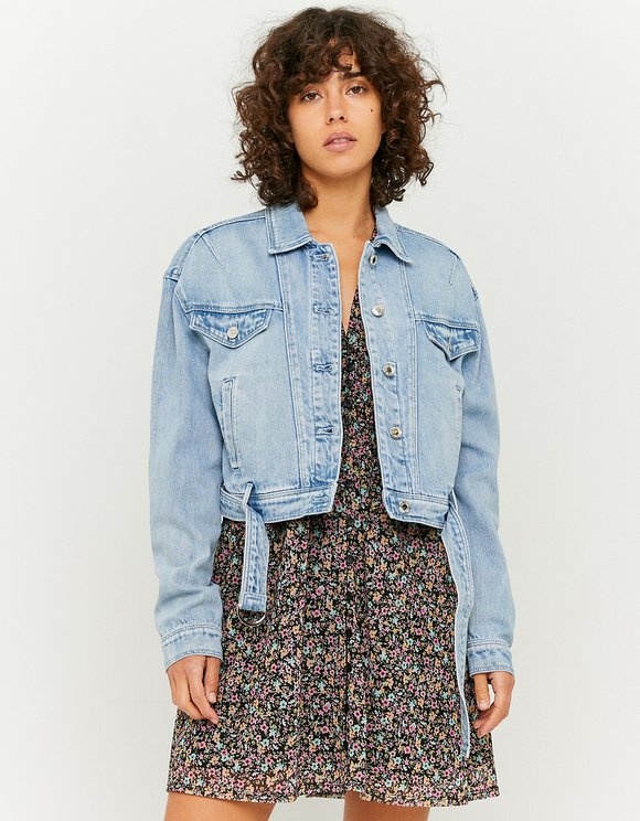 Belted Denim Jacket