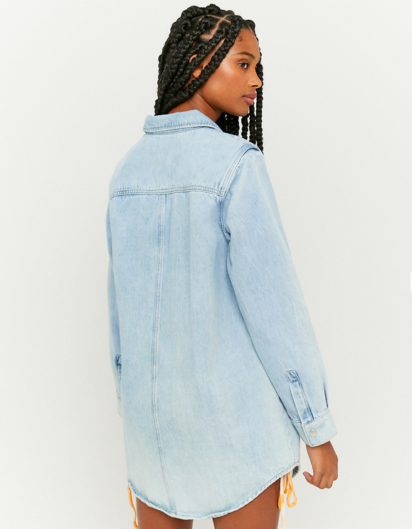 Denim Long Sleeve Shacket