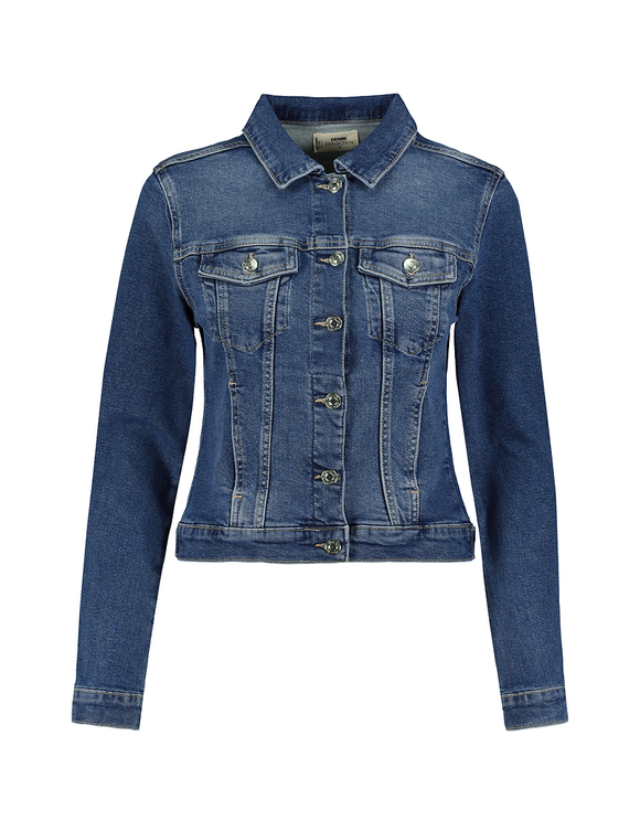 Stretch Basic Slim Fit Denim Jacket