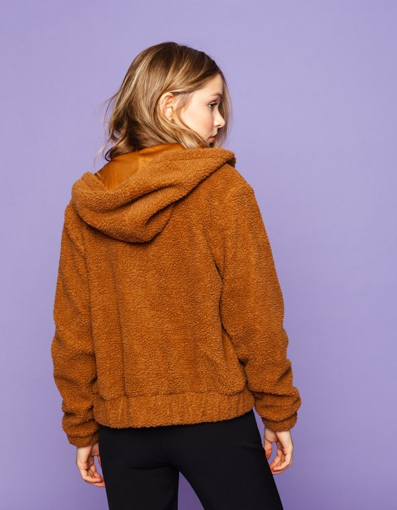 Cognac Faux Fur Jacket
