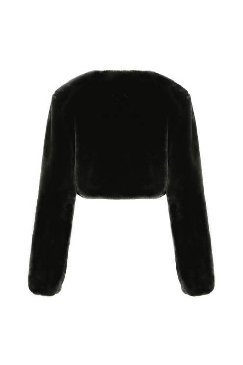 Schwarze kurz geschnittene Jacke