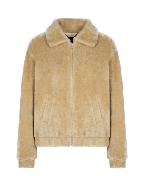 Beige Faux Shearling Jacket