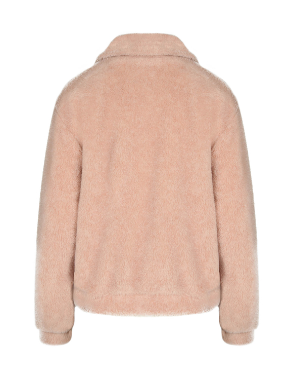Pink Faux Shearling Jacket