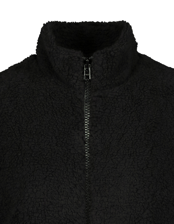 Black Polar Fleece Gilet