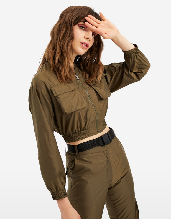 Bomber Jacket  with Elasticated Waist