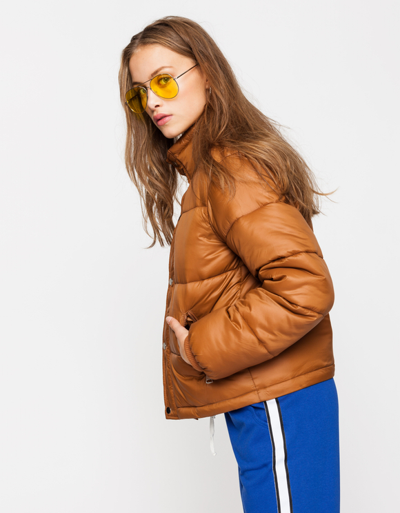 Cognac Puffer Jacket