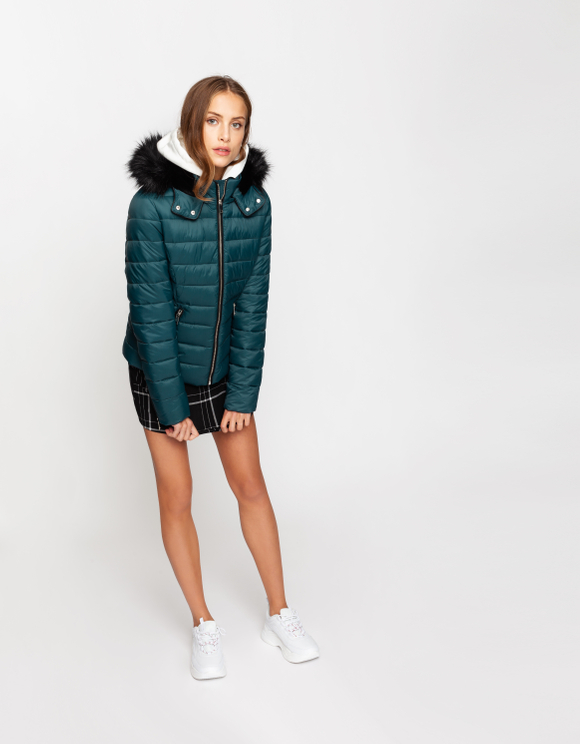 Petrol Blue Puffer Jacket