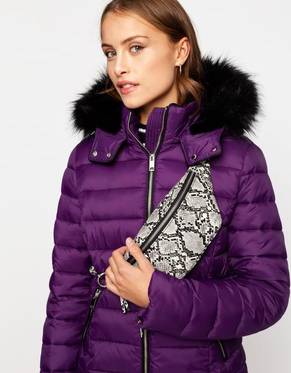 Doudoune Violette à Capuche