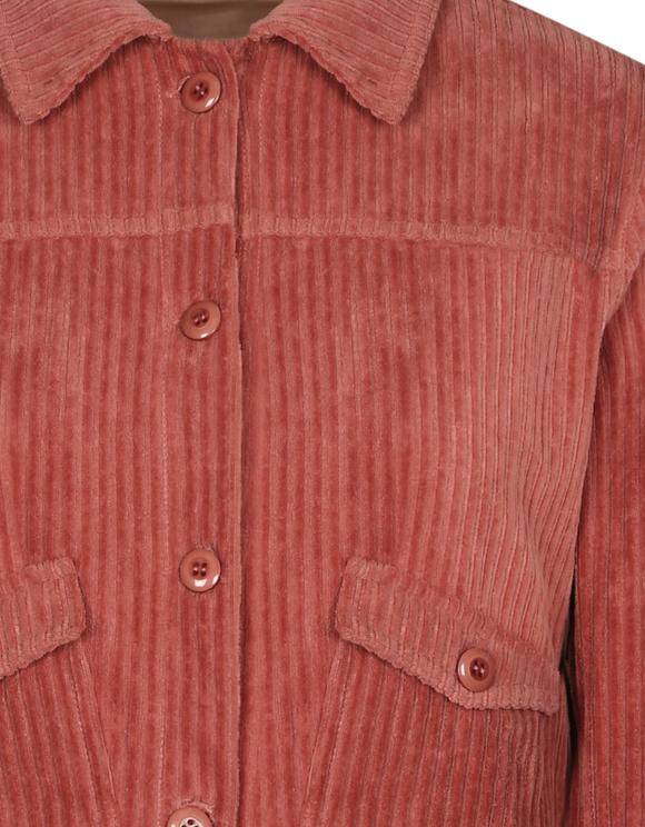 Różowa sztruksowa kurtka