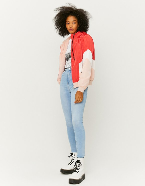 Color Block Windbreaker Jacket