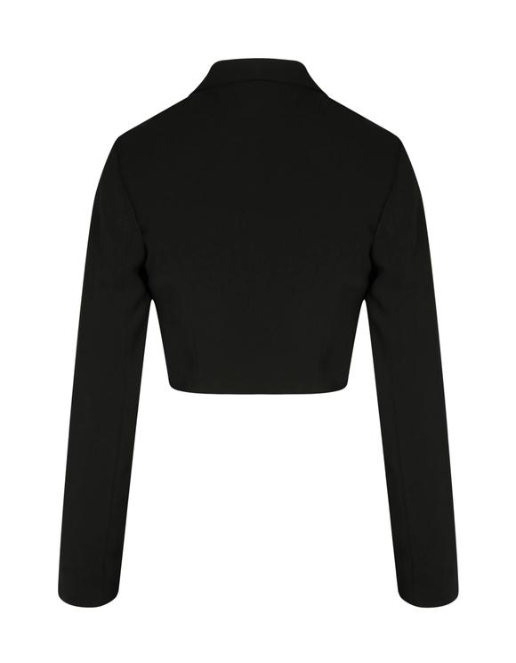 Black Very Cropped Blazer
