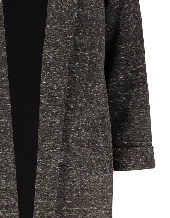 Grey Knit Open Front Blazer