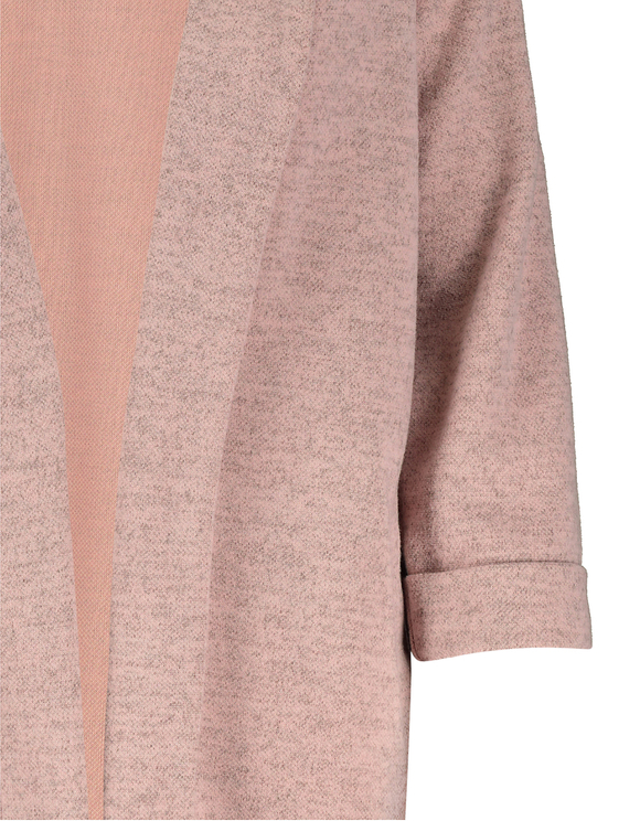 Pink Knit Open Front Blazer