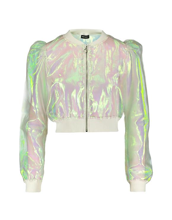 Weiße Jacke aus Organza