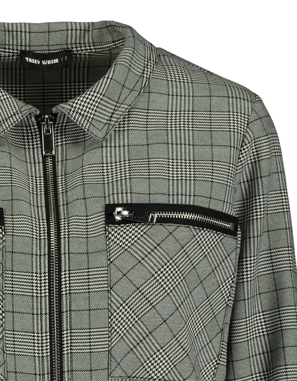 Cropped Glen Check Bomber